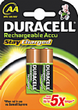Duracell Stay Charged AA NiMH Rechargeable Batteries - 2 pack 2000mAh